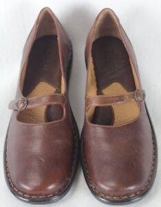 Born Labret Tan Brown Buckle Leather Shoes 10 M/W NIB