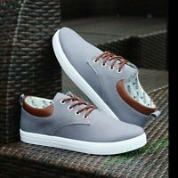 New Canvas England Men's Sneakers Breathable Recreational Lace up Casual Shoes