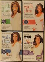 4 Walk Slim at Home DVD lot Leslie Sansone 3 fast miles firming start firm band