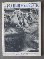 """LES FONTAINES DE ROME - """"Les Documents Athenaeum photographiques"""" - 1941"""