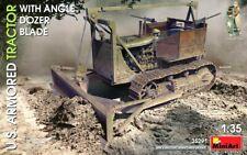 Miniart 1:35 U.S. Armoured Tractor With Angled Dozer Blade Model Kit