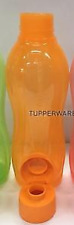 Tupperware Water Bottle 1L ~Liquid Tight Big Gulp Pour Seal Tangerine Orange New