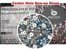288 Preciosa Czech VIVA Loch Rose 1-hole Sew-on Flatback Stones 4mm Olivine AB