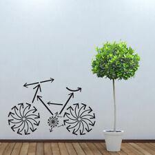 Wall Decal Bicycle Sport Arrow Wheel Steering Wheel Trip Bedroom Mural M1045