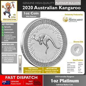 1oz (ounce) Platinum Bullion Coin | Australian Kangaroo 2020 | Perth Mint | RARE