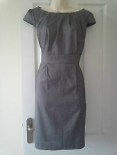 Stunning Grey Gathered Neckline Capped Sleeved Dress UK10-12 BNWT RRP£30