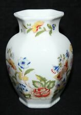 "Aynsley - Cottage Garden - 3 1/2"" Hexagonal Vase - vgc"