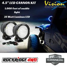 "VISION X 4.5"" LED Light Cannon Kit PAIR 25 Watt 10 Degree Spot Beam w/ Harness"