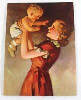 "Rare ""Up She Goes"" by R.J.Stuart Salesman Sample Calendar Litho Print ~ 6.75""x5"""
