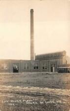 RPPC CITY POWER PLANT PRAIRIE DU CHIEN WISCONSIN COOK REAL PHOTO POSTCARD 1920s