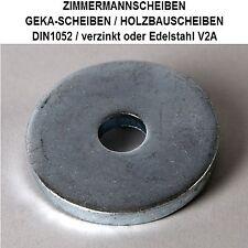 14x58x6->27x105x8 DIN1052 GEKASCHEIBE BAUSCHEIBE VERZINKT oder EDELSTAHL V2A ab: