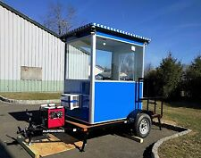 Fully Loaded 4'x6' Trailer Booth for Security Guard Shack / Cashier Ticket Booth