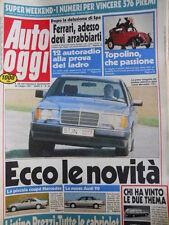 Auto OGGI n°25 1987 Audi 90 - Test Mercedes 260 E Thema 6V Peugeot 505 V6 [Q201]