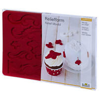 Birkmann Reliefform Ornamente Relief Form Backform Backzubehör Silikon 21 cm