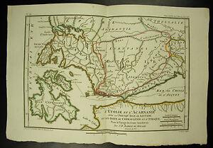 l'Etolie et l'Acarnanie Ile Céphallénie Carte c 1790 J D Barbié du Bocage map