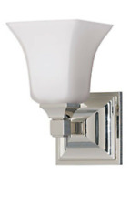 Feiss American Foursquare VS12401-PN 1–Light Vanity Fixture Polished Nickel