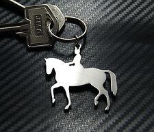 DRESSAGE équitation à cheval ou poney équestre Porte-clé Key Acier Inoxydable
