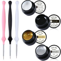 7Pcs 5ml Nail Painting UV/LED Gel Polish Liner Brush Carving Nail Art Gel Set