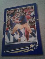 2020 Donruss Press Proof Variation Blue, Jared Goff #141 Los Angeles Rams