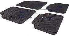 4 Piece Heavy Duty Black Rubber Car Mat Set Non Slip PEUGEOT 208 2012>
