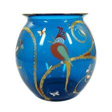 Seltene große Vase mit Vogel - Insekten, Josephinenhütte, Siegfried Haertel