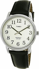 Timex Men's Easy Reader T20501 Black Leather Quartz Dress Watch