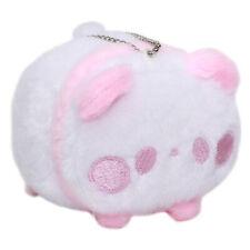 Panda Plushie Japan Super Soft Stuffed Animal Toy Keychain White Pink 3 Inches
