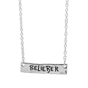 Justin Bieber Belieber Logo Bar Necklace