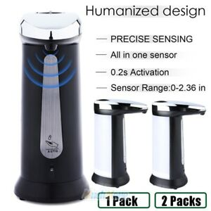 2xHands Free Automatic Soap Dispenser Touchless Battery Operated Water-Resistant