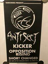 """ANTISECT / KICKER / OPPOSITION RISING / SHORT CHANGED Show Flyer 11""""x6"""" punk"""