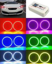 wifi RGB halo rings For Hyundai Genesis Coupe 10-16 headlight LED angel eyes DRL