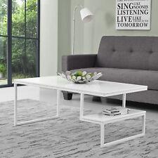[en.casa] mesita baja blanco laca Alto Brillo 110x60cm MESA de salón auxiliar