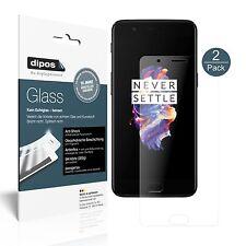 2x OnePlus 5 Pellicola Protettiva Protezione opaco Vetro Flessibile 9H dipos