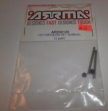 ARRMA HD Hinge Pin Set 3 x 38mm (1 pair) #AR330145 NIP