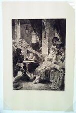 LLOVERA BUFFIL Una botilleria. Eau-forte originale 1878 - Espagne - Empire
