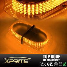 240 LED 12V Oval Light Bar Roof Top Emergency Hazard Flash Strobe Yellow Amber