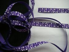 5 yards PURPLE HEART 10mm GROSGRAIN Ribbon New BARGAIN Craftroom Clearout 1735