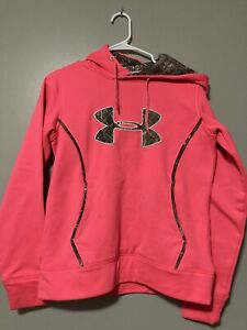 Woman's Small Under Armour Hoodie Bright Pink Camo Accents