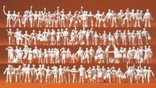 Preiser 16325 HO 1:87 Unpainted Railway Personnel and Passengers - Brand New