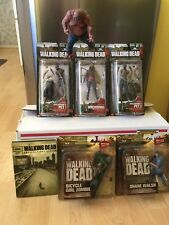 Lot of 6 The Walking Dead Action  Series 2 And 3 Figures McFarlane Season 1 DVD