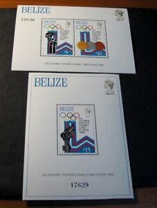 Souvenir Sheets Foreign Belize Scott# 469-470 Winter Olympics 1979 MNH C503