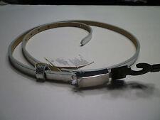 NWT: BANANA REPUBLIC Silver Metallic Skinny Belt, Large