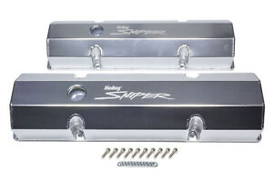HOLLEY Sniper Fabricated Valve Covers  SBC Tall P/N - 890010