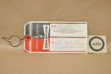 Vintage Champion Spark Plugs Dealer Hanging Tag Ducati Powell Chico California