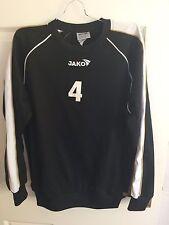 JAKO MENS MEDIUM 38-40C BLACK LONG SLEEVED FOOTBALL SHIRT (EX COND)