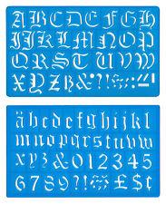 30mm old english upper Minuscules Alphabet numéros pochoir modèle set mo