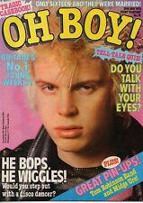 Oh Boy! Magazine 20 May 1978 No.78    Billy Idol   Tom Robinson Band   Midge Ure