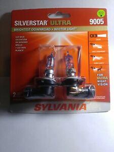 Sylvania Silverstar Ultra 9005 65W Two Head Light  Bulbs For Ultra Night Vision