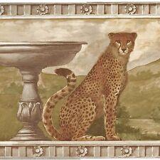 Cheetah Cats Architectural - 60 feet ONLY $30 - Wallpaper Border A180
