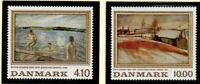 Denmark Sc 863-64 1988 Paintings stamp set mint NH